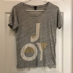 J.Crew holiday T-shirt JOY size XS